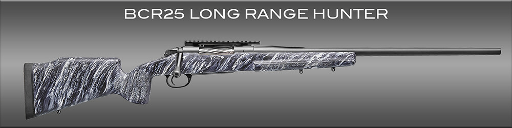 The BCR25 is the long range rifle of choice for serious hunters.